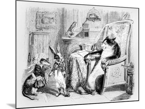 The Cat, the Weasel and the Little Rabbit, Illustration for 'Fables' of La Fontaine (1621-95),…-J^J^ Grandville-Mounted Giclee Print