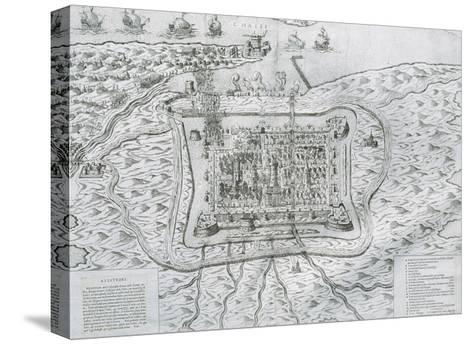 Capture of Calais from the English in 1558 by Francis De Lorraine, Duke of Guise (1558)--Stretched Canvas Print