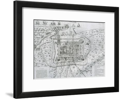 Capture of Calais from the English in 1558 by Francis De Lorraine, Duke of Guise (1558)--Framed Art Print