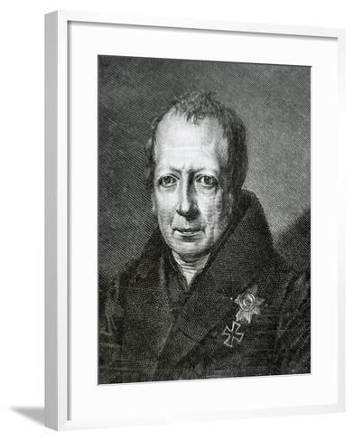 Wilhelm Von Humboldt (1767 1835)--Framed Art Print