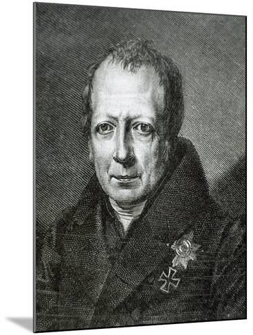 Wilhelm Von Humboldt (1767 1835)--Mounted Giclee Print