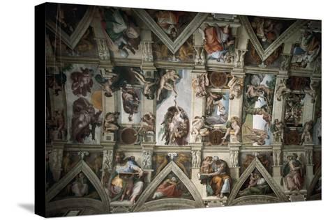 Michelangelo (1475-1564). Sistine Chapel (1508-1512). Ceiling--Stretched Canvas Print