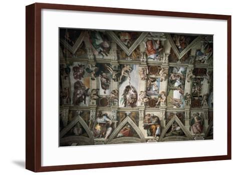 Michelangelo (1475-1564). Sistine Chapel (1508-1512). Ceiling--Framed Art Print