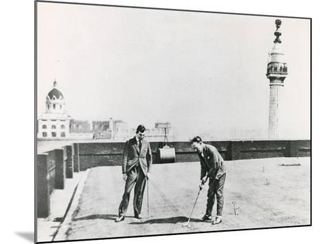 City Golfers Viewed from the Monument--Mounted Photographic Print