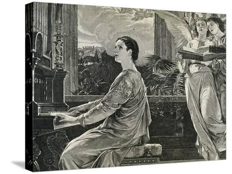 Saint Cecilia of Rome. 2nd Century A.C. Roman Martyr--Stretched Canvas Print