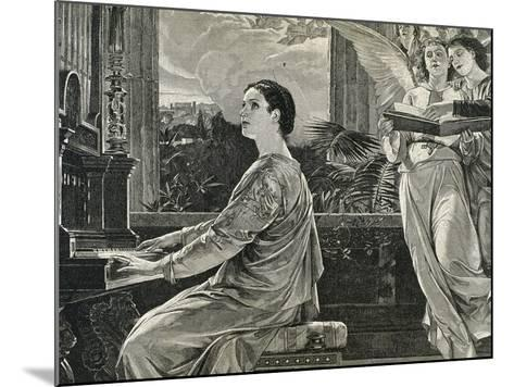Saint Cecilia of Rome. 2nd Century A.C. Roman Martyr--Mounted Giclee Print
