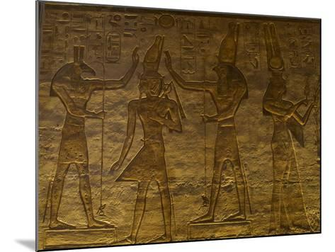 Small Temple or Temple of Hathor. The Gods Set (Left) and Horus (Right) Adoring Ramses II. Abu…--Mounted Giclee Print