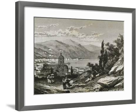 Italy. Como View of the Town Near the Lake--Framed Art Print