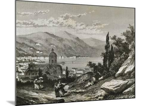 Italy. Como View of the Town Near the Lake--Mounted Giclee Print