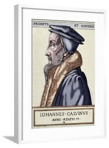 John Calvin (1509 1564). French Theologian and Pastor During the Protestant Reformation--Framed Art Print