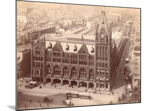 Pennsylvania Railroad Station, Market Street West at Penn Square, 1889--Mounted Giclee Print