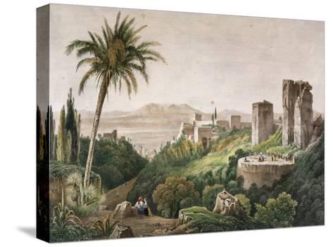 Walk and Towers of the Alhambra. Litography. 19th Century--Stretched Canvas Print