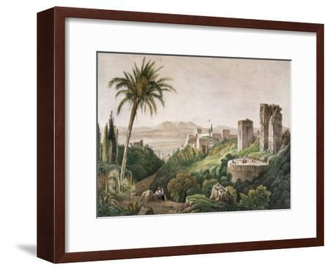 Walk and Towers of the Alhambra. Litography. 19th Century--Framed Art Print