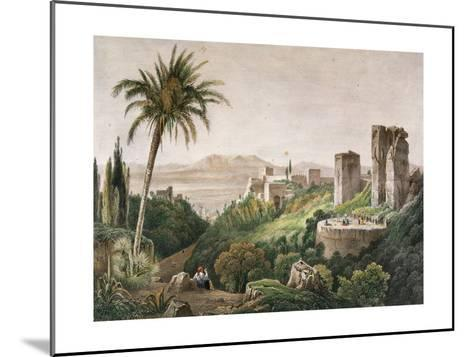Walk and Towers of the Alhambra. Litography. 19th Century--Mounted Giclee Print
