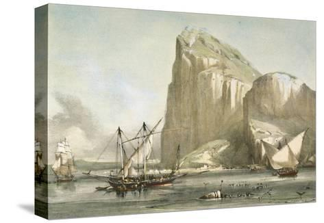 Gibraltar from the Anchorage. Litography--Stretched Canvas Print