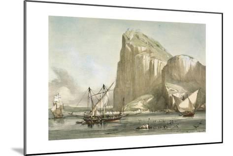Gibraltar from the Anchorage. Litography--Mounted Giclee Print