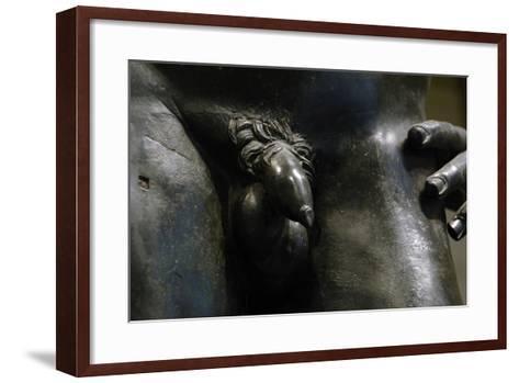 Greek Art. Hellenistic. Bronze Male Statue. 2nd or 1st Century B.C.. Metropolitan Museum of Art.…--Framed Art Print