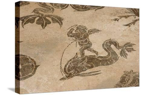 Roman Mosaic. Neptune Riding a Chariot. Ostia Antica. Italy--Stretched Canvas Print