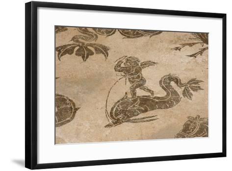 Roman Mosaic. Neptune Riding a Chariot. Ostia Antica. Italy--Framed Art Print