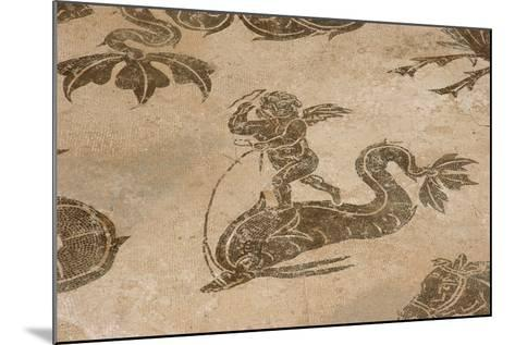 Roman Mosaic. Neptune Riding a Chariot. Ostia Antica. Italy--Mounted Giclee Print
