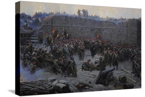 Crimean War (1853-1856). Siege of Sevastopol, 1854-1855, by Franz Alekseyevich Roubaud (1856-1928)--Stretched Canvas Print