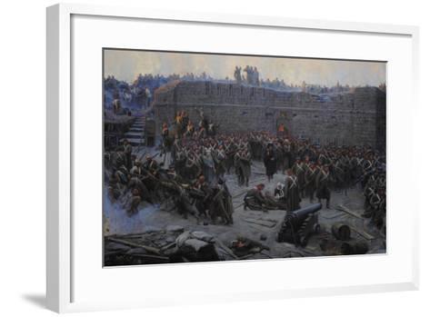 Crimean War (1853-1856). Siege of Sevastopol, 1854-1855, by Franz Alekseyevich Roubaud (1856-1928)--Framed Art Print
