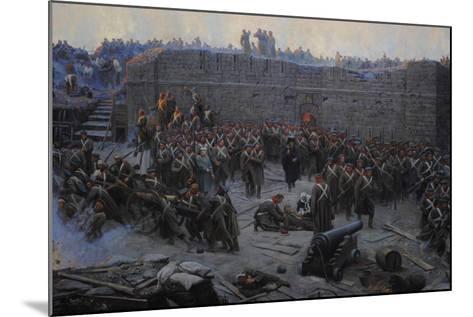 Crimean War (1853-1856). Siege of Sevastopol, 1854-1855, by Franz Alekseyevich Roubaud (1856-1928)--Mounted Giclee Print