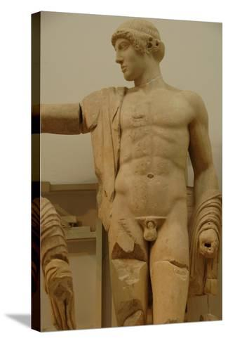 Apollo. Decoration of the Temple of Zeus in the Sanctuary of Olympia. Greece--Stretched Canvas Print