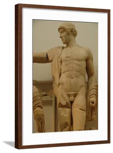 Apollo. Decoration of the Temple of Zeus in the Sanctuary of Olympia. Greece--Framed Art Print
