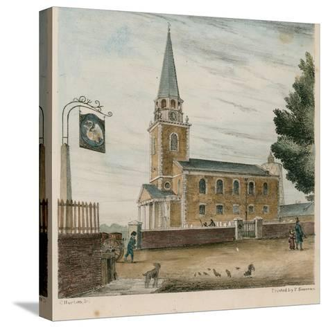 Battersea Church, Surrey--Stretched Canvas Print