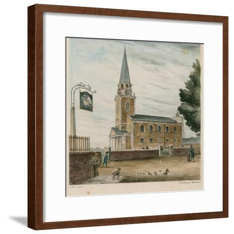 Battersea Church, Surrey--Framed Art Print