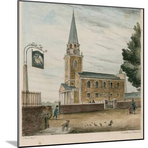 Battersea Church, Surrey--Mounted Giclee Print