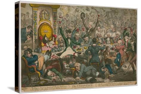 The Union Club-James Gillray-Stretched Canvas Print