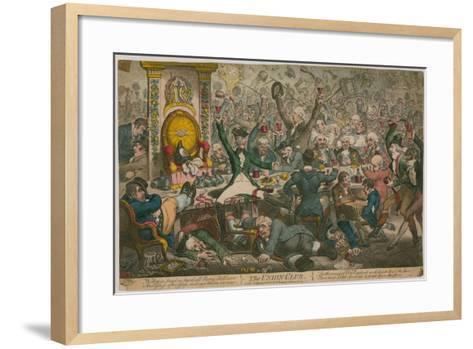 The Union Club-James Gillray-Framed Art Print