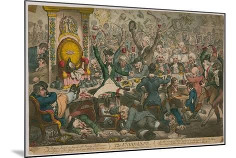 The Union Club-James Gillray-Mounted Giclee Print