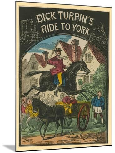 Dick Turpin's Ride to York--Mounted Giclee Print