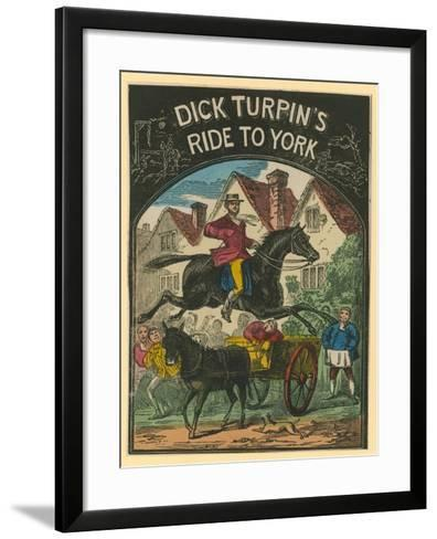 Dick Turpin's Ride to York--Framed Art Print