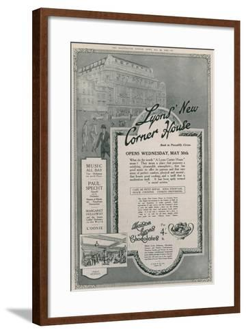Lyons' New Corner House, Piccadilly Circus, London--Framed Art Print