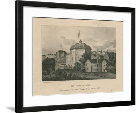 The Globe Theatre, Bankside, Southwark, London--Framed Art Print