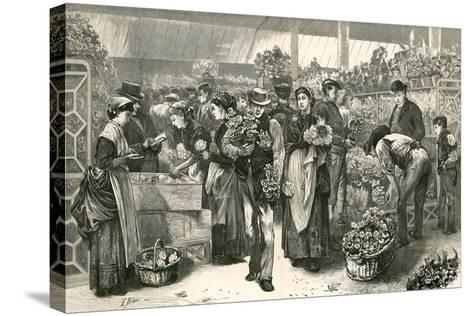 The Flower Market, Covent Garden, London-Edwin Buckman-Stretched Canvas Print