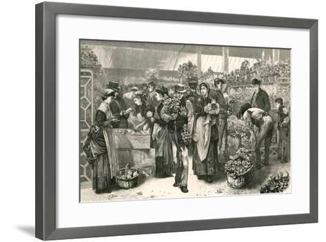 The Flower Market, Covent Garden, London-Edwin Buckman-Framed Art Print