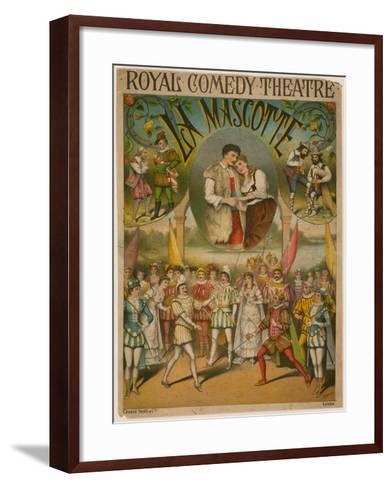 Theatre Poster, La Mascotte at the Royal Comedy Theatre, London--Framed Art Print