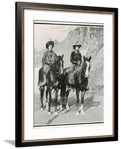 The Opening of the Golden West Exhibition at Earl's Court: How the Divided Skirt Works--Framed Art Print