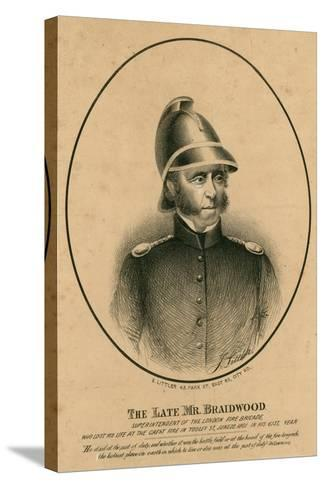 The Late Mr Braidwood, Superintendent of the London Fire Brigade--Stretched Canvas Print