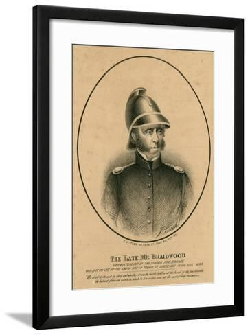 The Late Mr Braidwood, Superintendent of the London Fire Brigade--Framed Art Print