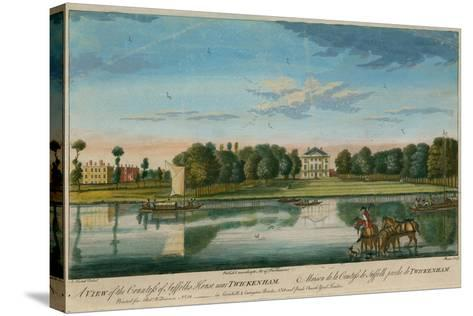 A View of the Countess of Suffolk's House Near Twickenham--Stretched Canvas Print