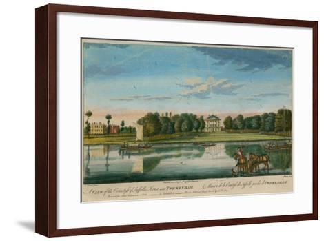 A View of the Countess of Suffolk's House Near Twickenham--Framed Art Print
