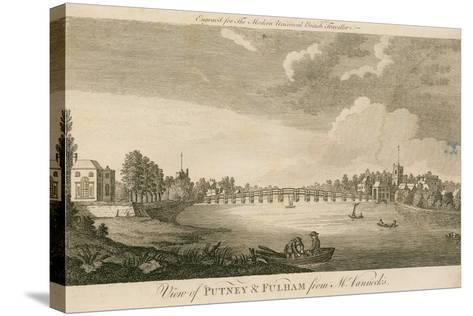 View of Putney and Fulham from Mr Vanneck's--Stretched Canvas Print