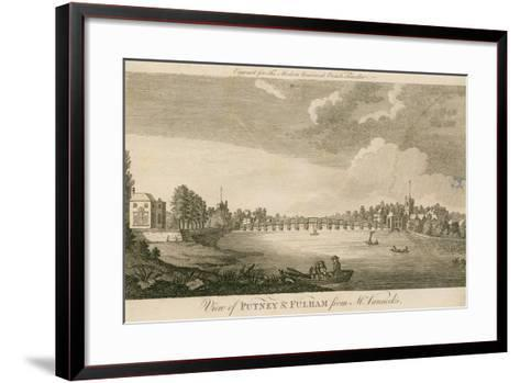 View of Putney and Fulham from Mr Vanneck's--Framed Art Print