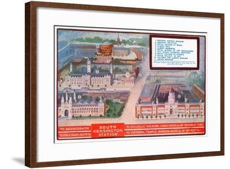 Guide to South Kensington Area, London--Framed Art Print
